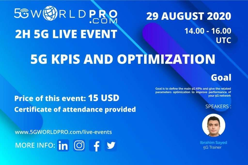 5G KPIS AND OPTIMIZATION 15 USD